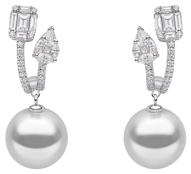 yoko london white south sea earrings