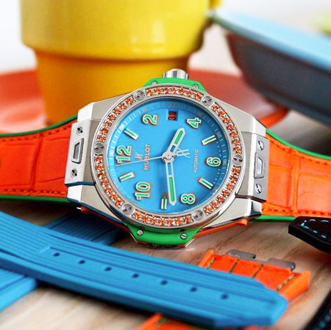 @thejewelleryed hublot big bang pop art watch