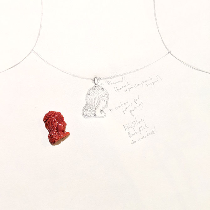 Angely Martinez coral pendant