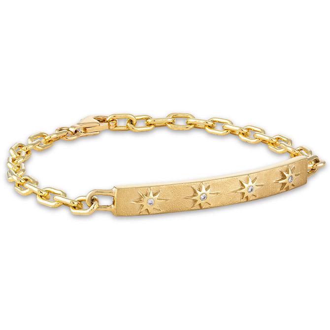 Pamela Zamore Star and Stone ID bracelet