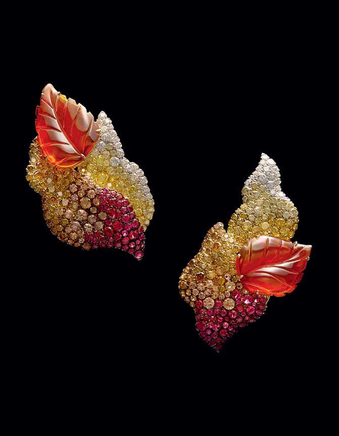 Carnet Michelle Ong fire opal earrings