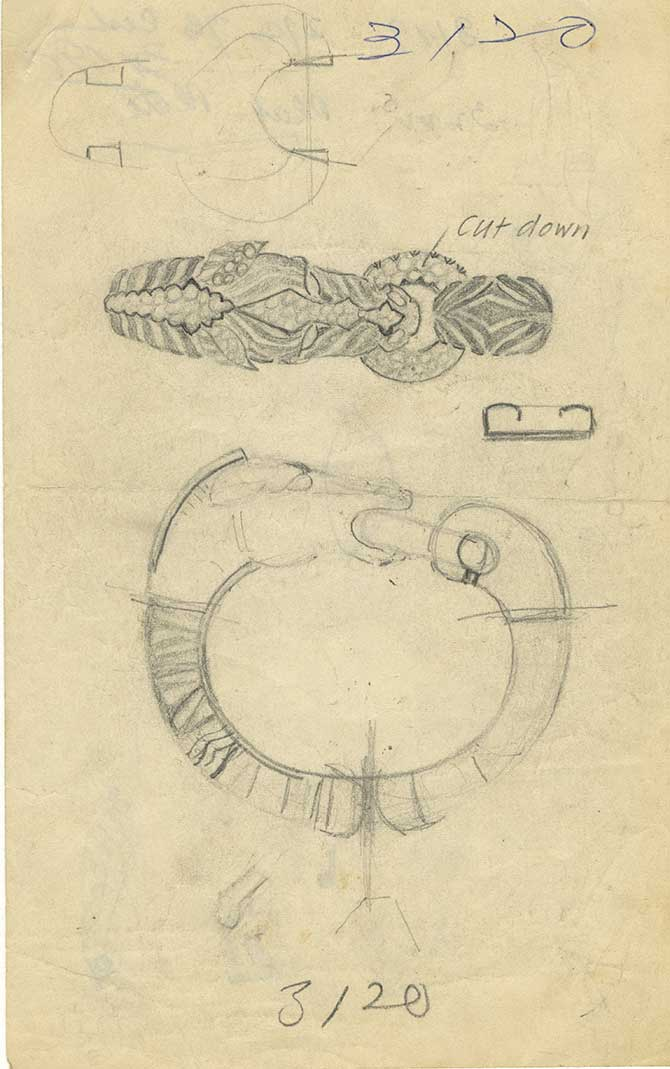 Permanent Sketch Book: David Webb Zebra Bracelet Acquired By The Met For