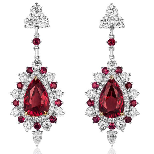 Color Source Gems ruby earrings