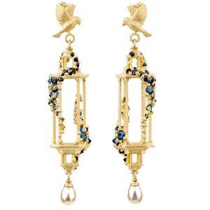 Polly Wales Jade Terrace Pagoda earrings