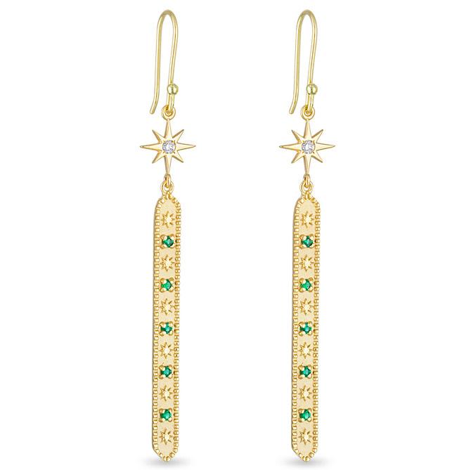 Pamela Zamore Star and Stones dangle earrings