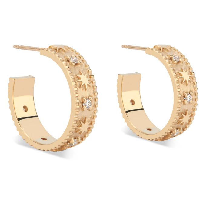 Pamela Zamore Star Classic hoop earrings