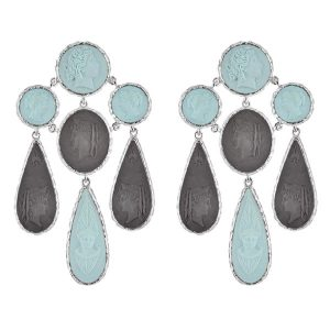 Cameo and Beyond Rome earrings