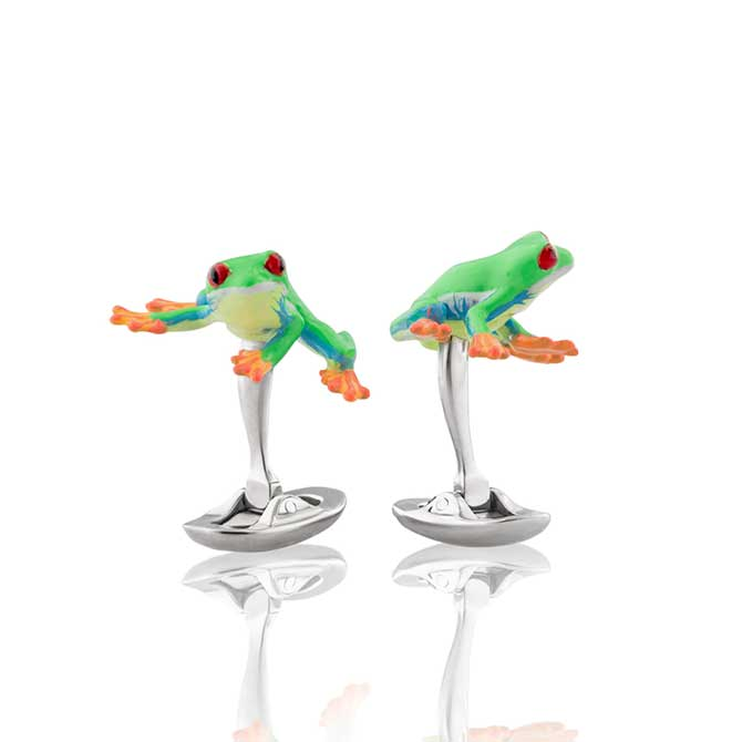 Fils Unique frog cufflinks
