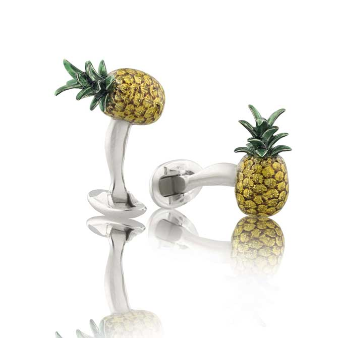 Fils Unique pineapple cufflinks