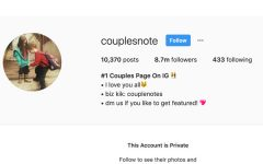 Private Instagram account example