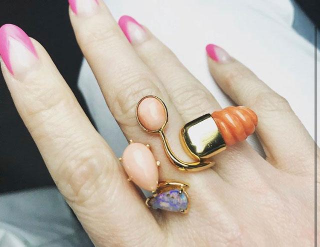 Jules Kim vintage coral rings