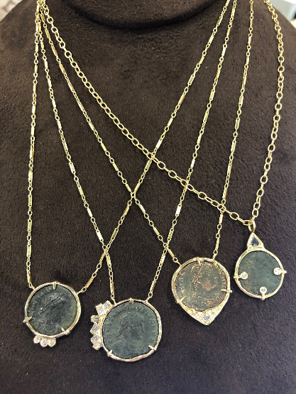Just Jules coin necklaces