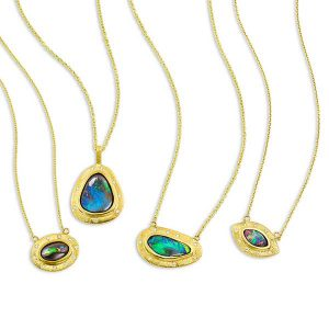 Kaali Designs opal necklaces