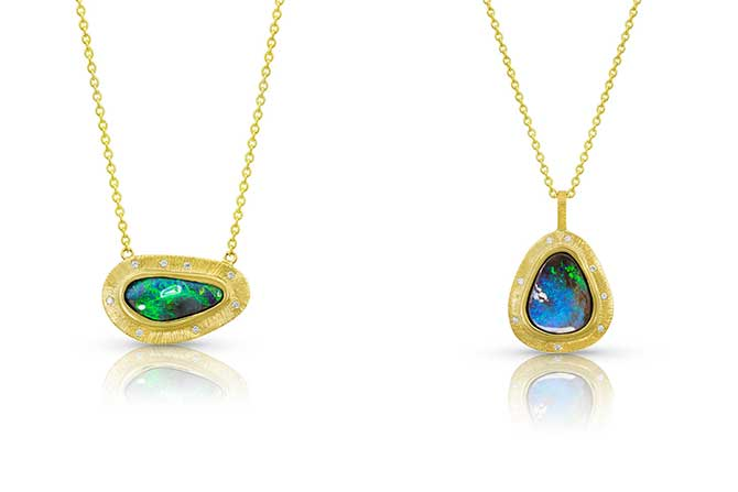 Kaali Designs opal pendants