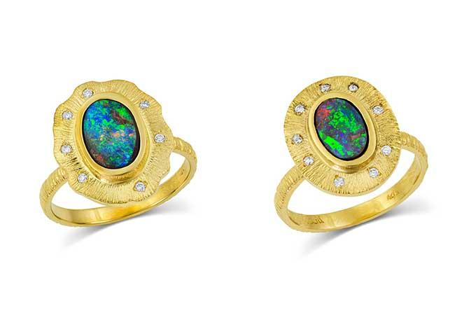 Kaali Designs opal rings