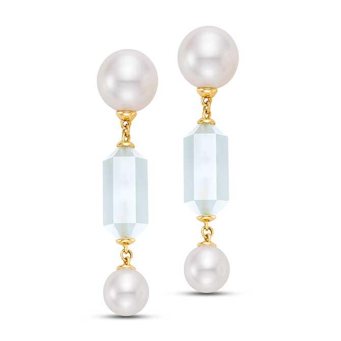 Mastoloni pearl and moonstone earrings