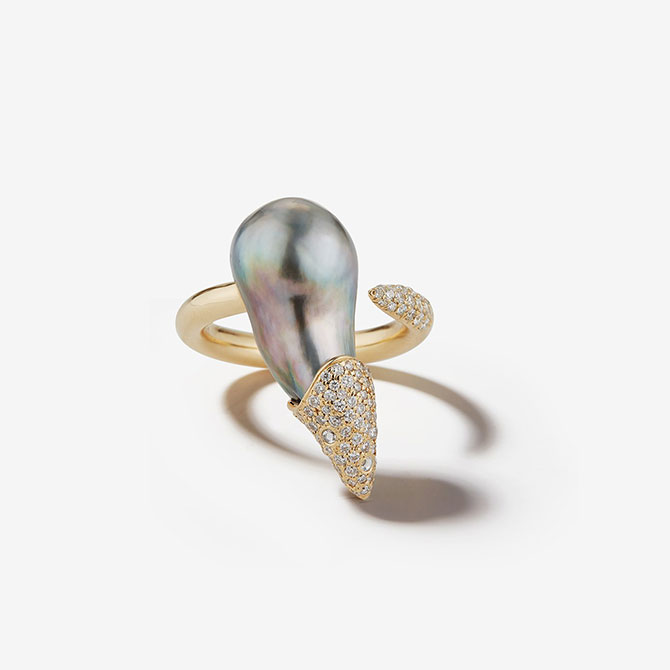 Mizuki pearl ring
