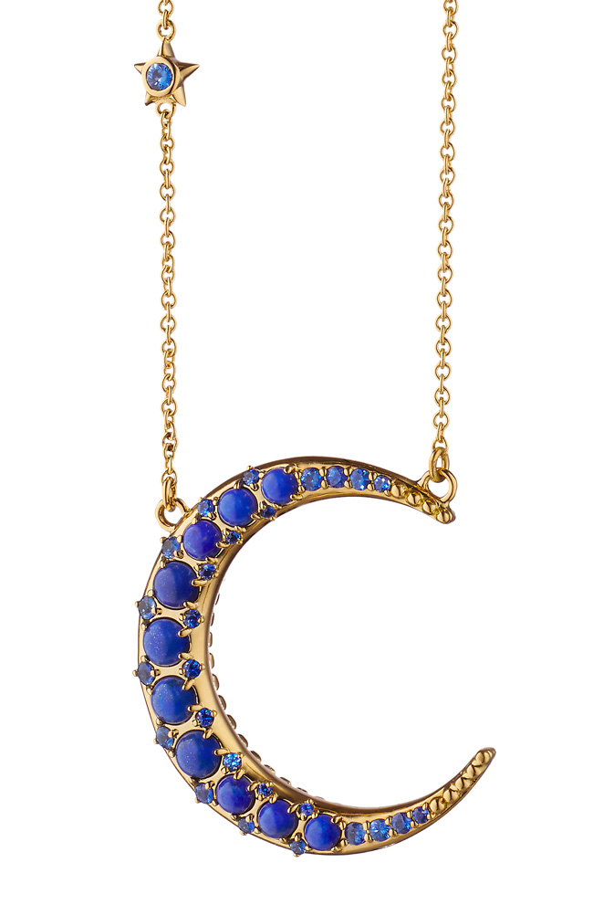 Monica Rich Kosann moon necklace lapis