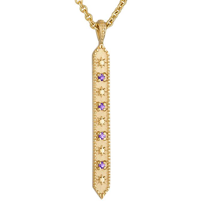 Pamela Long Star and Stone pendant