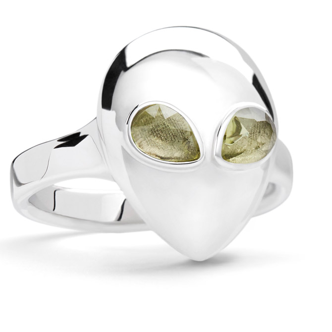 Alina Abegg silver Alien pinky ring