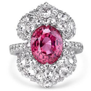 VTse pink gemstone ring
