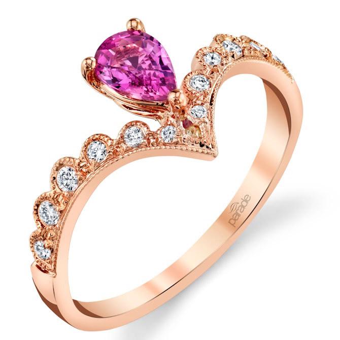 Parade Design pink sapphire ring