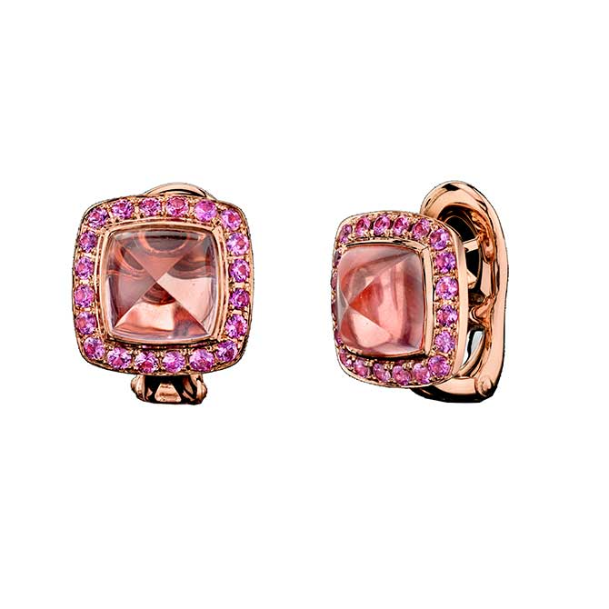 Robert Procop Legacy Brooke rose quartz earrings