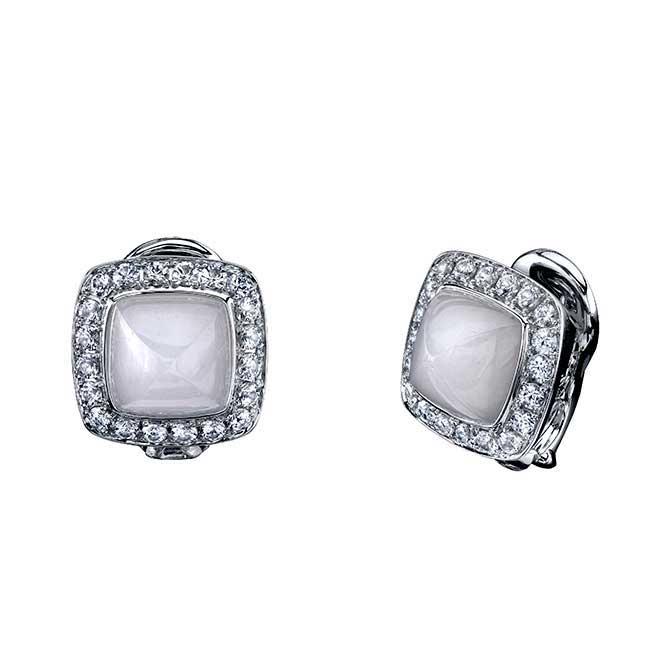 Robert Procop Legacy Brooke white jade earrings