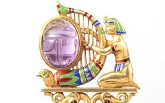Theodore B Starr Egyptian revival brooch