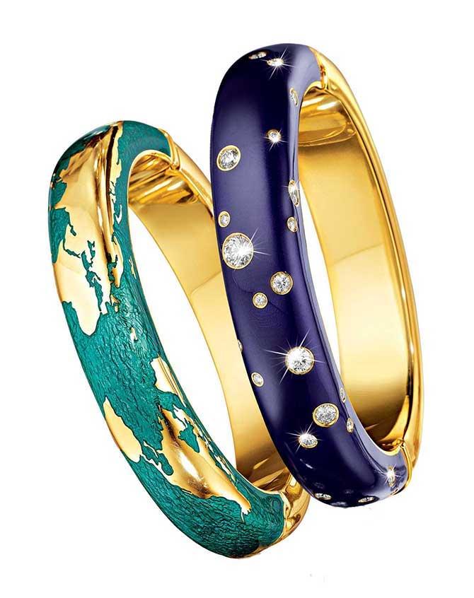 Verdura Night and Day bracelets