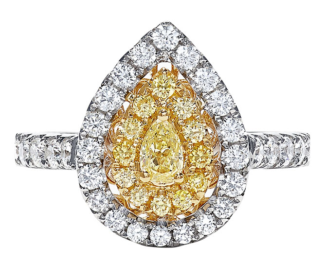effy yellow white diamond ring