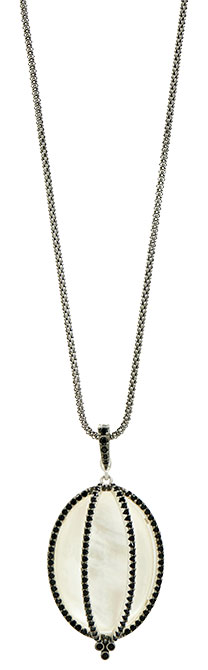 freida rothman industrial finish mother of pearl pendant