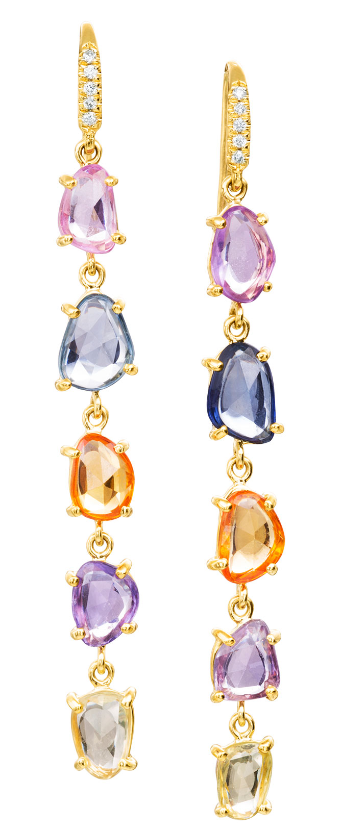 lauren k multicolored sapphire earrings