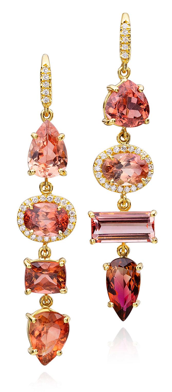 lauren k pink tourmaline earrings
