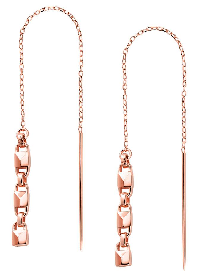 michael kors rose gold plated threader earrings