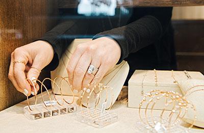 nicole gorman shrum arranging bracelets