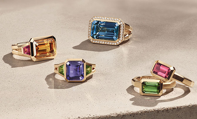 novella rings with colored stones