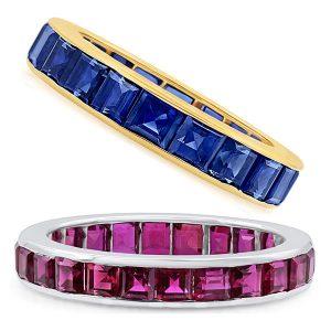 oscar heyman ruby sapphire bands