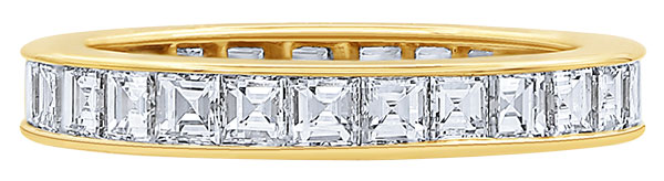 oscar heyman square cut diamond band