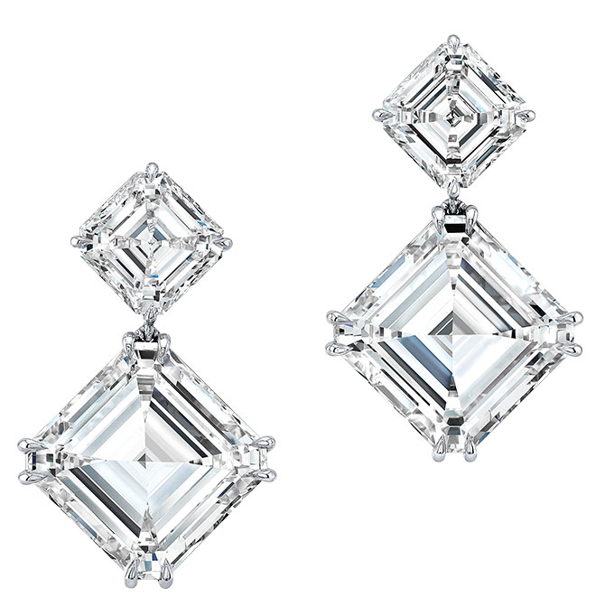 rahaminov asscher cut forevermark diamond earrings
