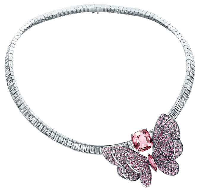 tiffany morganite tourmaline sapphire butterfly necklace
