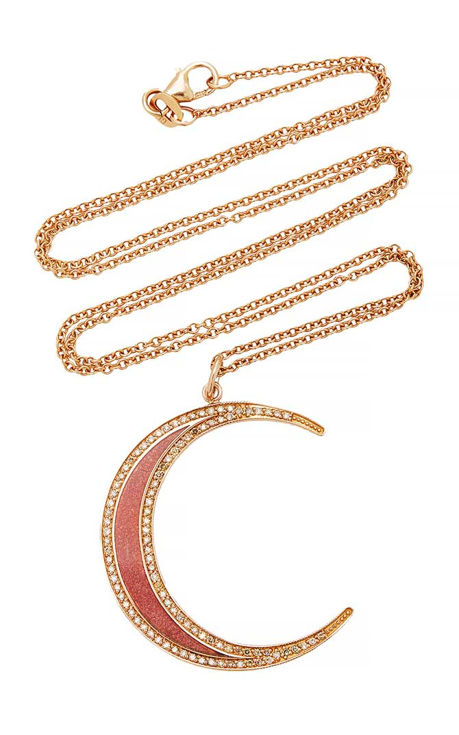 Andrea Fohrman moon necklace