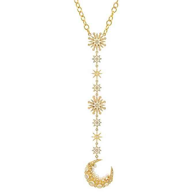 Colette moon pendant