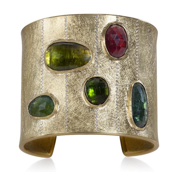 Todd Reed tourmaline cuff bracelet
