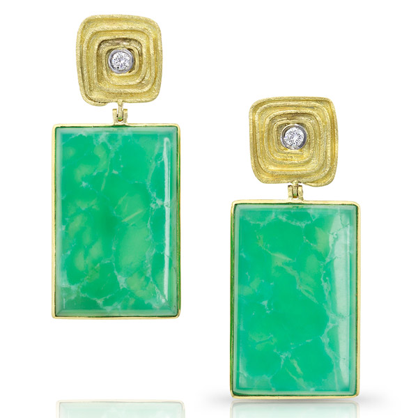 Alishan chrysoprase earrings