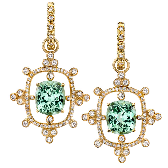 Erica Courtney Interstellar green tourmaline earrings