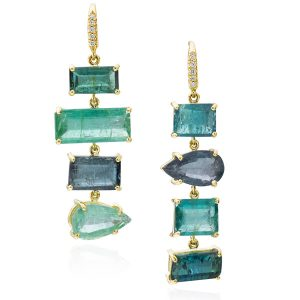 Lauren K green tourmaline earrings