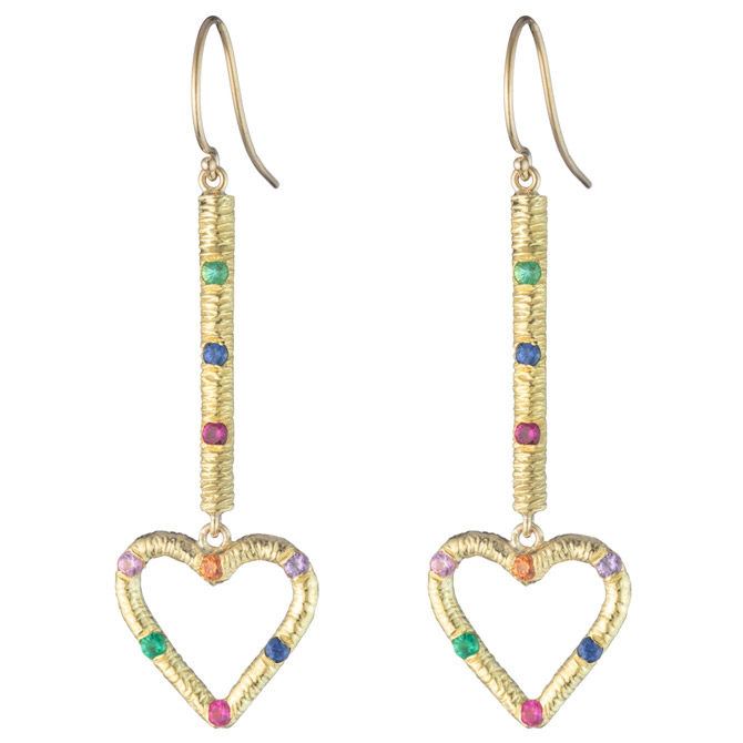Brent Neale heart drop earrings