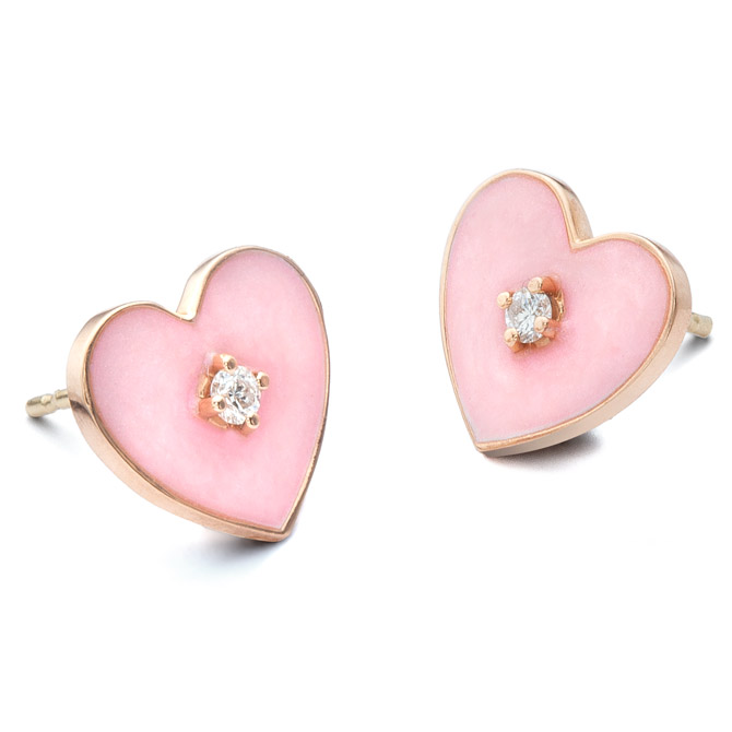 Nora Kogan heart earrings