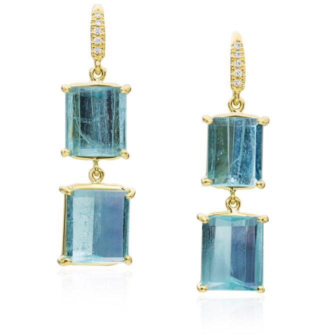 Lauren K aquamarine earrings